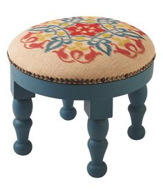 Look what I found on #zulily! Round Ikat Foot Stool #zulilyfinds