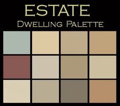 The Estate Paint Color Palette™: elegant & refined. Your own color consultation: twelve Benjamin Moore Paint Colors for only $25.