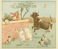 Randolph Caldecott was a children's book author (known for personifying inanimate objects). Toy books were colorful picture books made in the Victorian era.