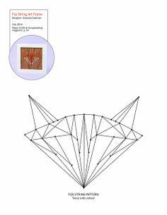 Fox string art pattern