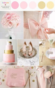 pink and gold wedding ideas | www.endorajewellery.etsy.com