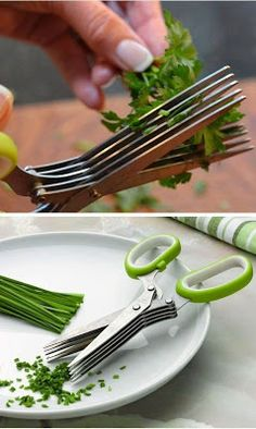 5-blade Herb Scissors. These are so cool!