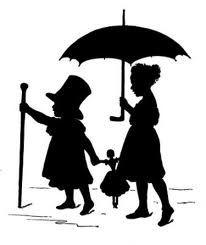 Wendy John and MIchael - Peter Pan, Disney Silhouettes