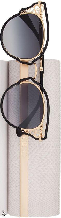 1988ab27b73 JIMMY CHOO DHELIAS SUNGLASSES AND CASE Jimmy Choo Sunglasses