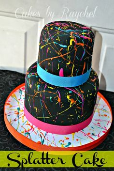 My Creative Way: Paint Splatter Cake. DIY TIPS