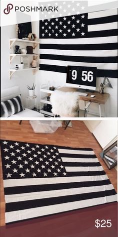 Black and white flag New no tags. Urban outfitter sells this. 85 by 55 inches Brandy Melville Other