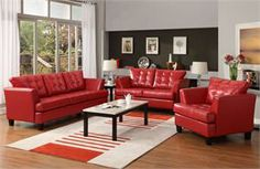 Della Red Living Room Collection Item 9994RED