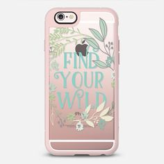 Find Your Wild-flowers | Grey Thistle Studio - New Standard Case in Pink Grey and Clear by @greythistle | @casetify