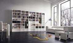 interior design, modern, sofa, library, shelves, white, design, modern, white, sofa, furniture