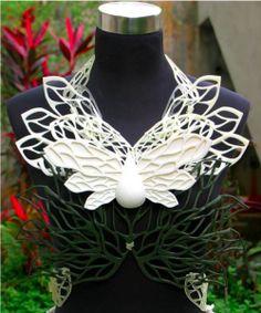 """Rippling Embodiments"" 3D printed top by NTU students #3dPrintedFashion"