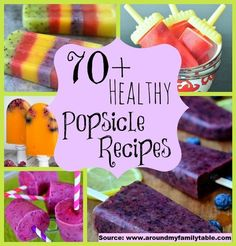 70 Healthy Popsicle Recipes...For more creative tips and ideas FOLLOW https://www.facebook.com/homeandlifetips