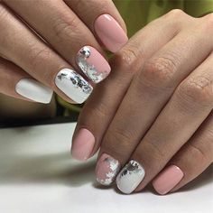 85 Fabulous Spring Square Nail Designs To Make You Shine - Page 70 of 85 - Chic Hostess White Nails, Pink Nails, My Nails, Manicure, Gelish Nails, Acrylic Nail Designs, Nail Art Designs, Nails Design, Acrylic Nails