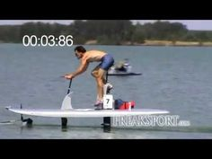 Waterbike Hydrofoil 100m Sprint in 14:11s