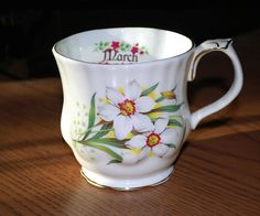 March Monthly Flower China Cup by FondestMemories on Etsy