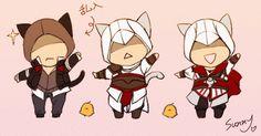 [AC/P] Cat Alex, Altaïr and Ezio