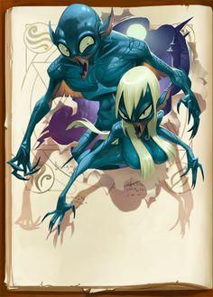 """Illustrations, character design : guerriers, monstres, médiéval fantastique, mondes antiques, personnages """"kawaii""""..."""