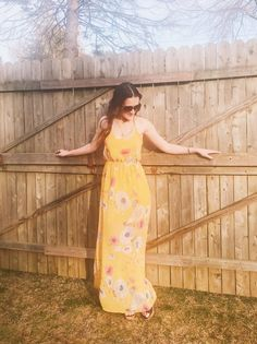 9eb56b0dfa15 Must Have Mustard Yellow Floral Dress for Spring 2018. Yellow Floral Maxi  DressFloral Dress OutfitsFashion ...