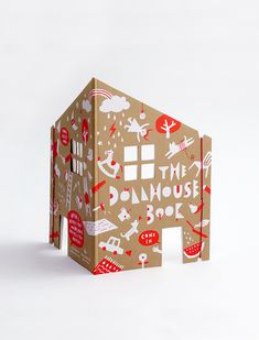 pop up book - This Dollhouse by Rock & Pebble is an adorable one that takes the form of a pop-up book, but instead of coming pre-decorated, the dollhouse is . Cinta Washi Tape, Pop Up, Activities For Kids, Crafts For Kids, Shape Books, Rock And Pebbles, Illustrations, Altered Books, Bookbinding