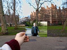 """"""" ON THE TRACKS OF SHERLOCK HOLMES BBC a while back when I was in London, my friend and I tracked down some Sherlock locations and I took printed pictures with me to catch the exact scene. North Gower..."""
