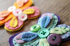 Felt Button Butterflies - Do Small Things with Love