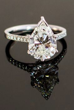 5CT Perfect Pear Cut Solitaire Russian Lab Diamond Promise Engagement Anniversary Wedding Ring