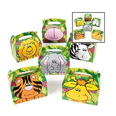 Safari Zoo Animals Treat Gift Boxes Birthday Party Favor Jungle Theme 12 Pack By Super Z Outlet Super Z Outlet http://www.amazon.com/dp/B00XV2MP3Y/ref=cm_sw_r_pi_dp_3fIcwb1N3J1S9