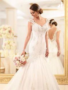 Turtleneck Wedding Dresses For Modest Brides