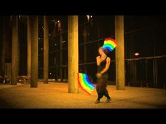 Rainbow Light Poi Balls - Looks like someone took being a Jedi to a whole other level