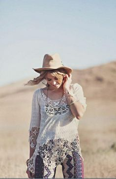 Border Print Bell Bottoms style pic on Free People