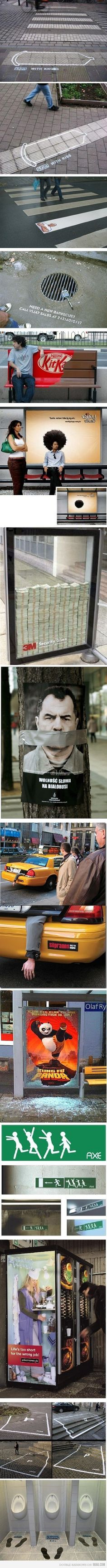 some guerrilla marketing. Just some guerrilla marketing.Just some guerrilla marketing. Guerilla Marketing, Street Marketing, Guerrilla Advertising, Clever Advertising, Advertising Design, Marketing And Advertising, Marketing Ideas, Experiential Marketing, Advertising Campaign