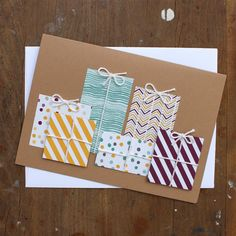 Presents Greeting Card  Birthday Card for Her  by CottonwoodCards