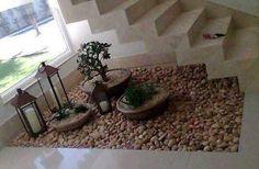 Scala con giardino Zen