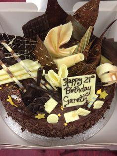 Chocolate textures birthday cake