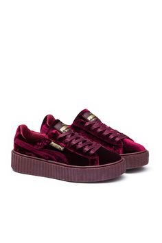 Fenty Puma x Rihanna, Women's Velvet Creeper , Women's, US women's sizing, Luxe velvet upper, PUMA side logo, Waxed laces, Smooth leather lining, Extra thick rubber sole, Imported