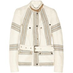 Belstaff Speedmaster linen and cotton-blend twill jacket ($899) ❤ liked on Polyvore featuring outerwear, jackets, jakne, zipper jacket, white zipper jacket, zip jacket, cotton blend jacket and belstaff