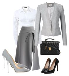 """Executive Wardrove"" by fashionsignature ❤️ liked on Polyvore featuring Yves Saint Laurent, Donna Karan, Chicwish, Thierry Mugler, Jimmy Choo, women's clothing, women's fashion, women, female and woman"