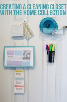 Creating a Cleaning Closet with the Home Collection via Clean Mama