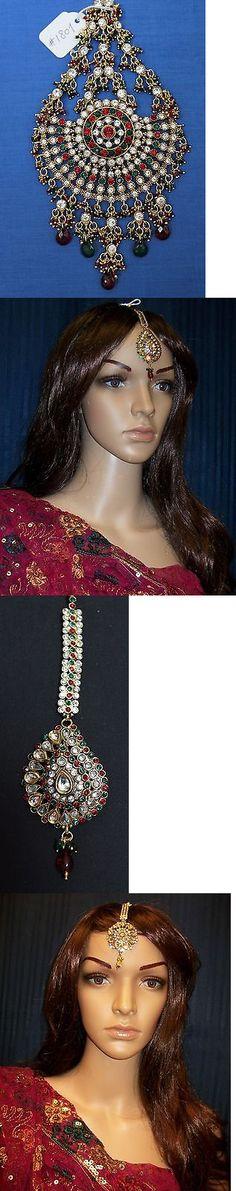 Other Asian E Indian Jewelry 11313: Maang Tikka 1807 Side Tikka Chotti Jooda Passa Jhoomar Forehead Jewelry Shieno -> BUY IT NOW ONLY: $115.0 on eBay!