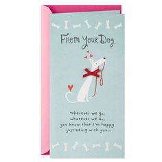 """Send a cute Mother's Day wish to """"mom"""" from the dog with this greeting. Card features a satin ribbon bow and glitter accents. No Mother's Day gift is complete without a Hallmark card! Mothers Day Card Kids, Funny Mothers Day, Mothers Day Quotes, Happy Fathers Day, Funny Cards, Cute Cards, Mother Day Wishes, Mom Cards, Mother's Day Greeting Cards"""