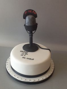 Radio Microphone Birthday Cakes