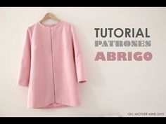 diy ropa DIY ropa, como hacer t - doityourself Sewing Coat, Sewing Clothes, Diy Clothes, Coat Patterns, Clothing Patterns, Dress Patterns, Sewing Tutorials, Sewing Hacks, Look Fashion