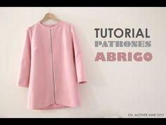 DIY Patrones Abrigo de Mujer (Tutorial paso a paso) - YouTube