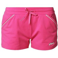 ASICS KNIT SHORT Sports shorts magenta ($20) ❤ liked on Polyvore featuring activewear, activewear shorts, pink, pink sportswear, asics, sports activewear, tall activewear and asics sportswear