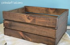 How to make your own wood crate  I really like this after discovering that the crates you pick up from factories for DIY projects can have formaldehyde in it which is dangerous for anyone - carcinogenic chemical.