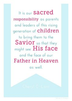 Relief Society Handout #lds