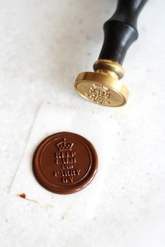 Sacher Cake recipe and photo tutorial on using Sealing Stamps and chocolate