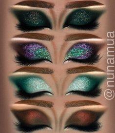 Teal Eyeshadow, Eyeshadow Looks, Eyeshadow Makeup, Lip Makeup, Makeup Tips, Beauty Makeup, Makeup Hacks, Makeup Ideas, Bridal Eye Makeup