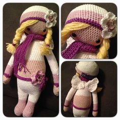 lalylala doll made by Daniela M. / based on a lalylala crochet pattern