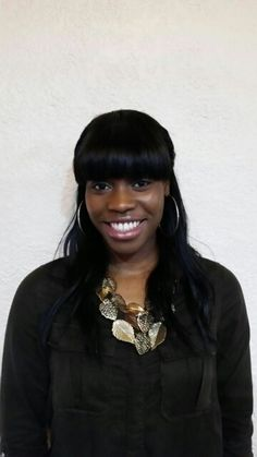 Full head weave with front bangs
