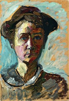 Gabriele Münter Self-Portrait ca. 1908  (19 February 1877 – 19 May 1962) was a German expressionist painter who was at the forefront of the Munich avant-garde in the early 20th century.